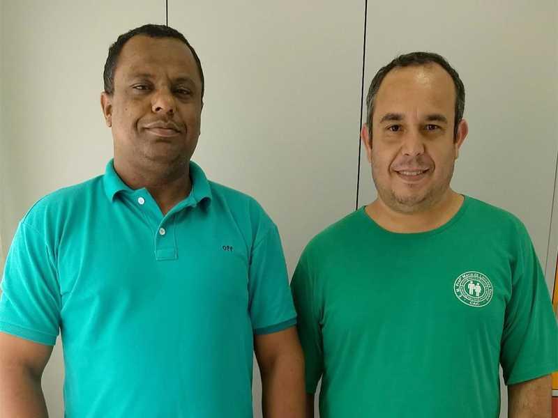O presidente do Fundeb, Cícero Barbosa (à direita) e o  vice-presidente eleito Wanderson Cleiton (à esquerda)