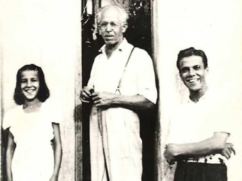 Seleiro Luiz Gonzaga Canoas e seus filhos, Terezinha e Benedito.  Foto do acervo do engenheiro Edson Antônio Canoas.