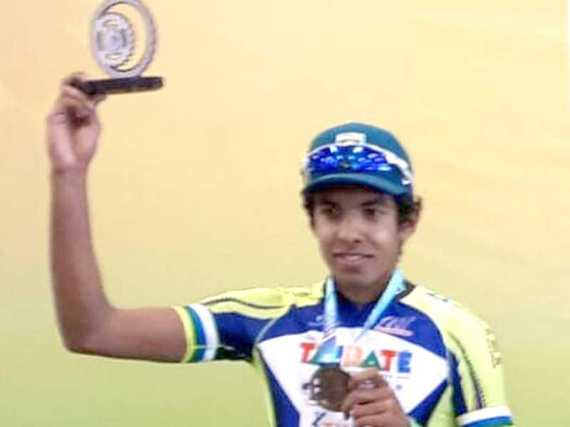 Ciclista itamogiense Kim Barbosa Cardeal Pimenta, vítima de acidente fatal.