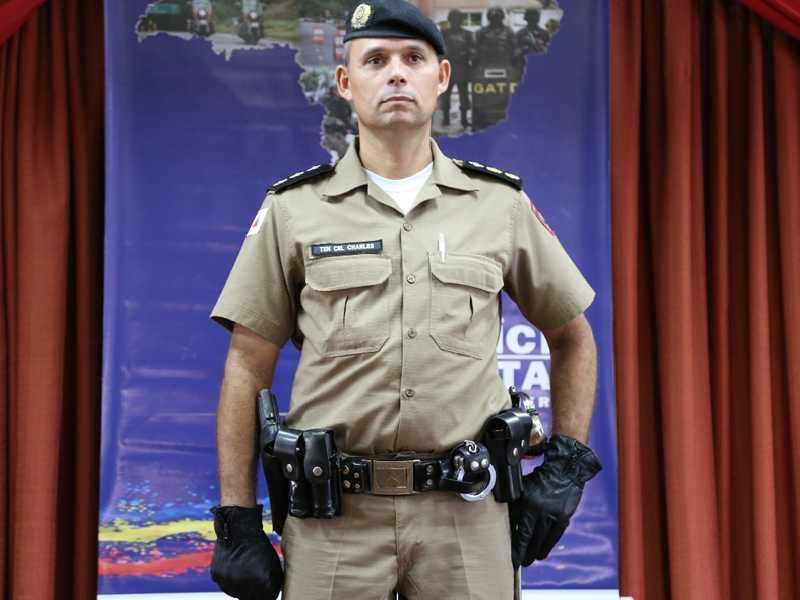 O comandante do 43º da PM em São Sebastião do Paraíso, Charles Kerley Batista