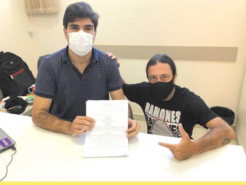 Vereadores Vinício José Scarano Pedroso e Juliano Carlos Reis (Biju)