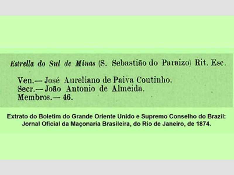 Extrato do Boletim do Grande Oriente Unido e Supremo Conselho do Brazil: Jornal Oficial da Maçonaria Brasileira, do Rio de Janeiro, de 1874