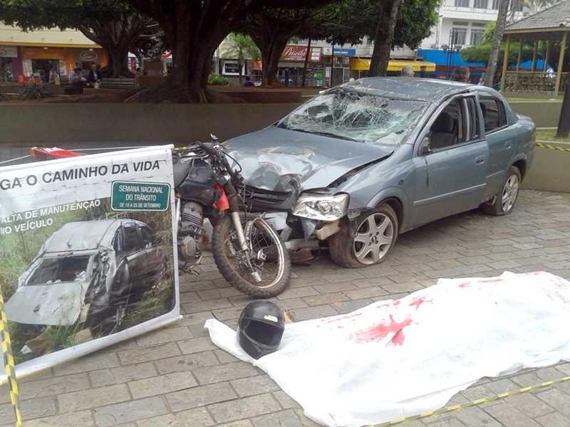 Encenação de acidente