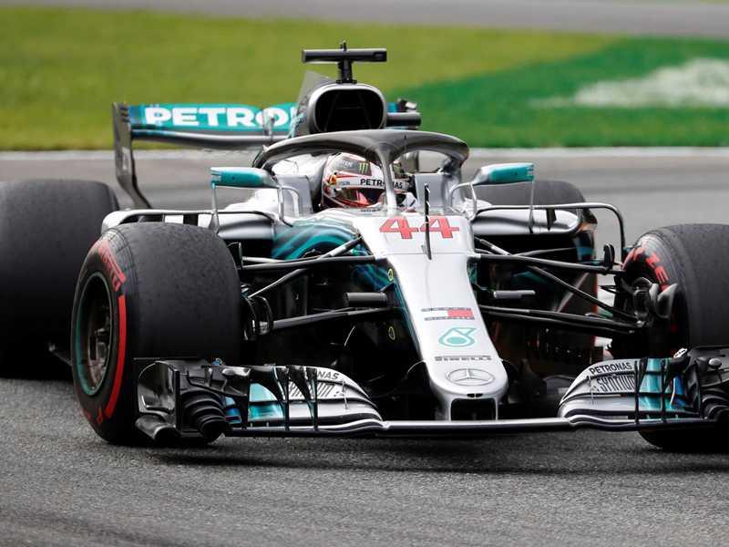 Lewis Hamilton foi implacável  e preciso em Monza