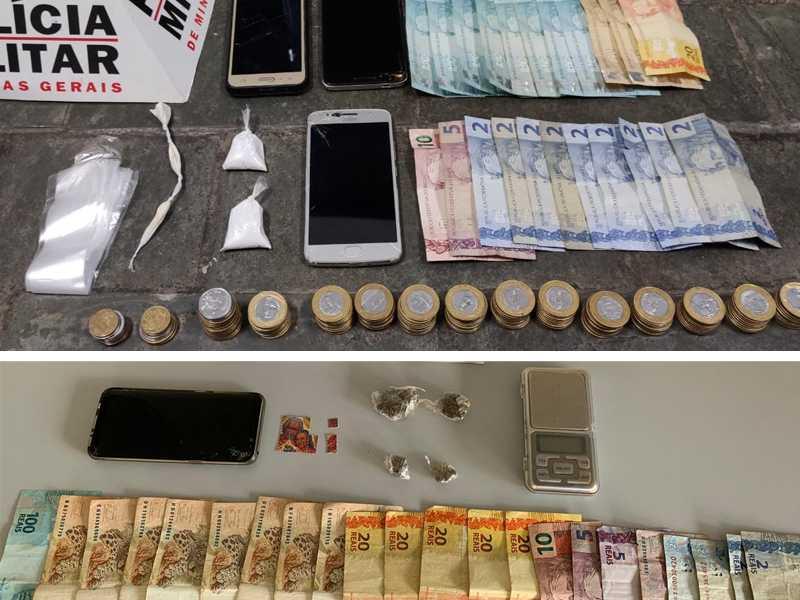 Drogas apreendidas nos bairros Santa Tereza e Jardim Diamantina