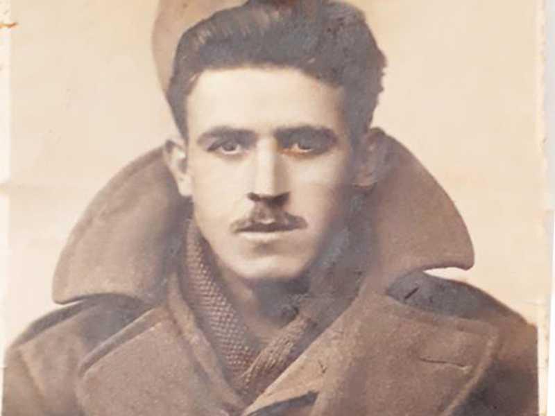 José Curti, Expedicionário Paraisense que lutou na Segunda Gerra Mundial. Fonte: Acervo da Família