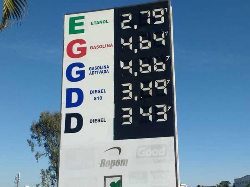 Posto de Paraíso que fica localizado às margens da BR 491 no Parque Belvedere, onde se vende o preço do litro da Gasolina e Etanol mais barato em Paraíso