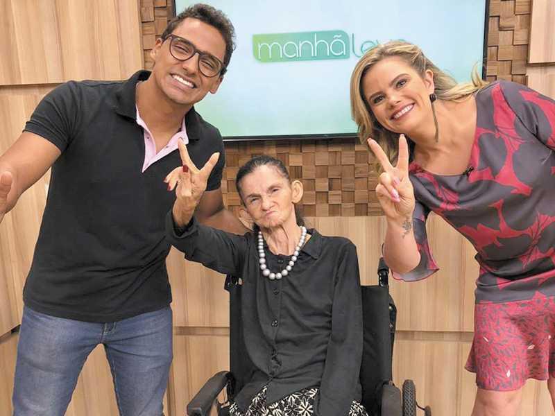 Eles foram entrevistados pela apresentadora Maria Cândida no quadro Notícias do Bem