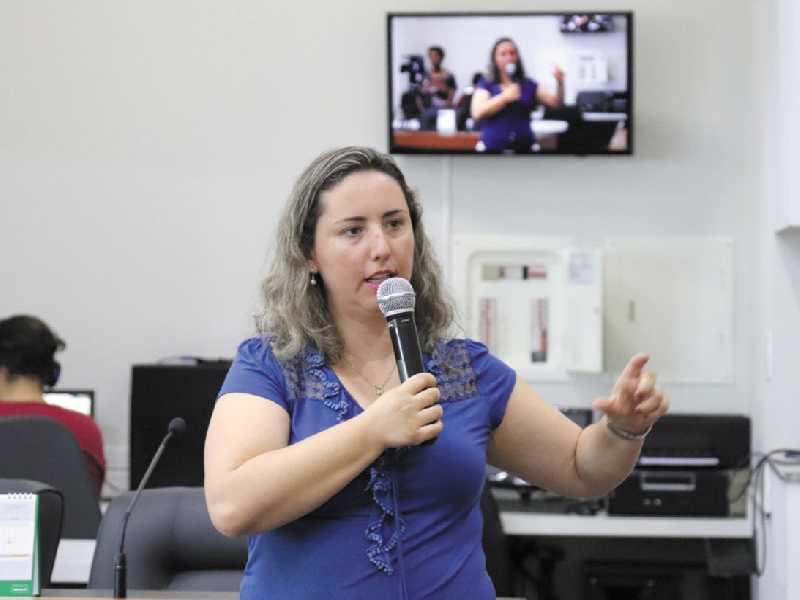 Auditora Adriana Rogeri explica origem da receita e necessidade da aprovação do projeto