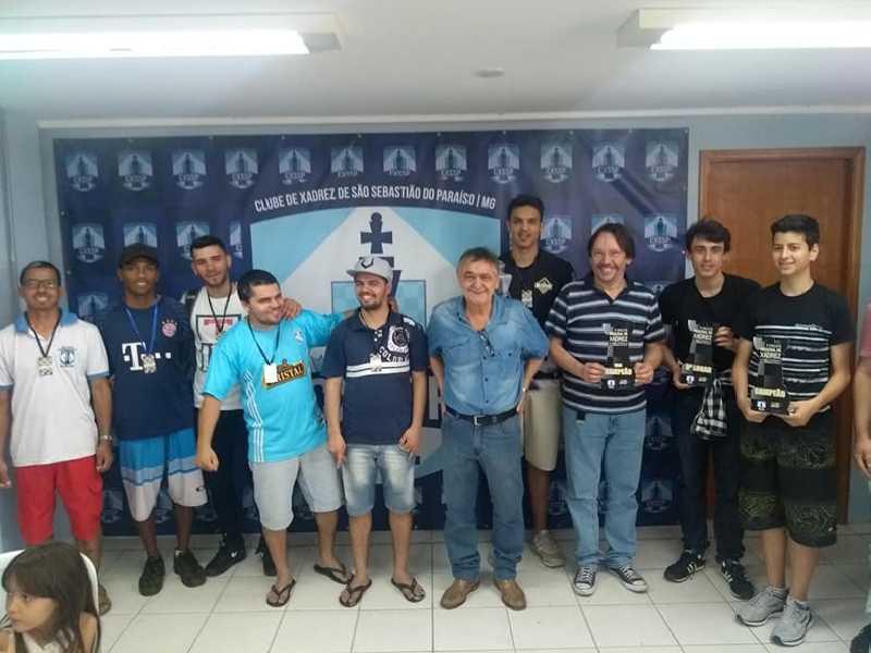 Clube de Xadrez de São Sebastião do Paraíso foi palco de mais um evento regional