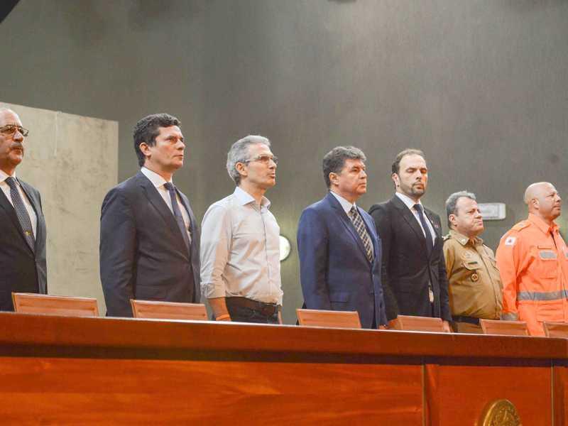 Em palestra, o governador apresentou  os resultados de Minas Gerais na área, enquanto o ministro destacou o Pacote Anticrime e ações do governo federal
