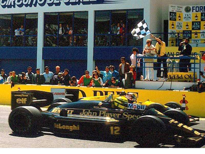 Ayrton Senna X Nigel Mansell na linha de chegada do GP da Espanha de 86
