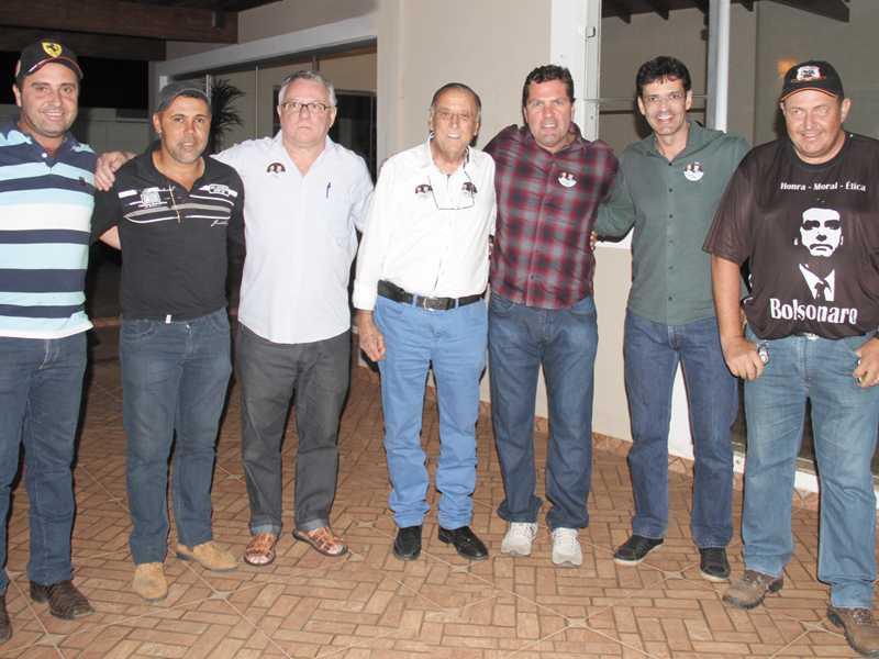 Vereador Lizandro, Vereador Ademir Ross, Ivaner, Jaciel, Dárcio Cantieri, Deputado  Marcelo Alvaro e Alexandre Montanha