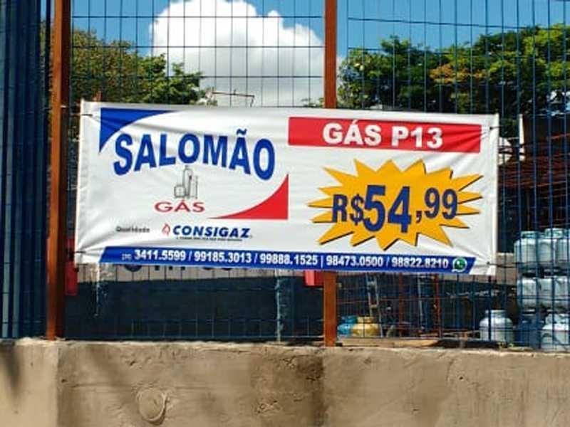 No Revendedor Salomão Gás R$54.99 no  local da compra e R$60.00 para entregar