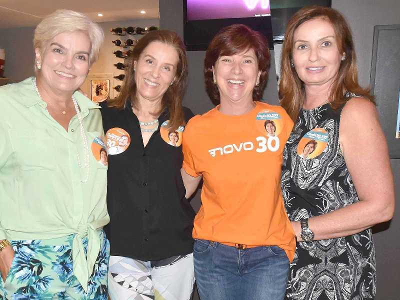 Tatiana e Luciana Mares Guia, Cláudia Vilhena e Cláudia Pohl