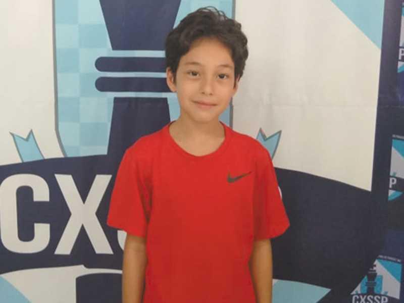 Andrew Santos Duarte,  da E. E. Paraisense, venceu  o Módulo 1 Masculino