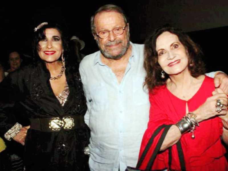 A atriz Rosamaria Murtinho na foto com Hanna e Carlos Vereza