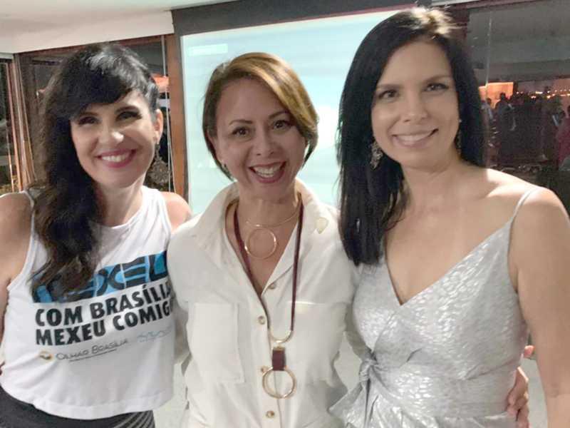 Samanta Sallum, Ana Lúcia Rodrigues e Marcia Zarur