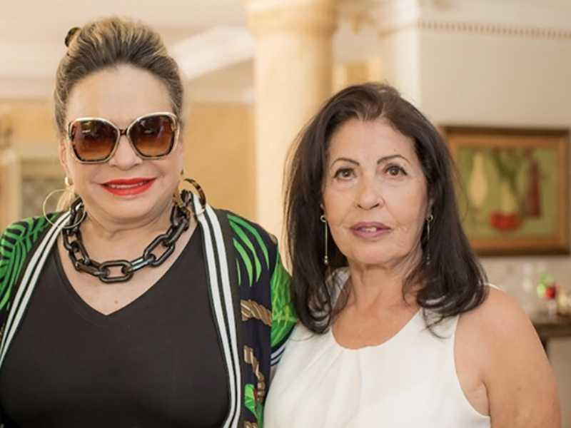 Maria Ignez Nogueira e Elisbeth França, no elegante almoço pelo niver de Marcelo Chaves