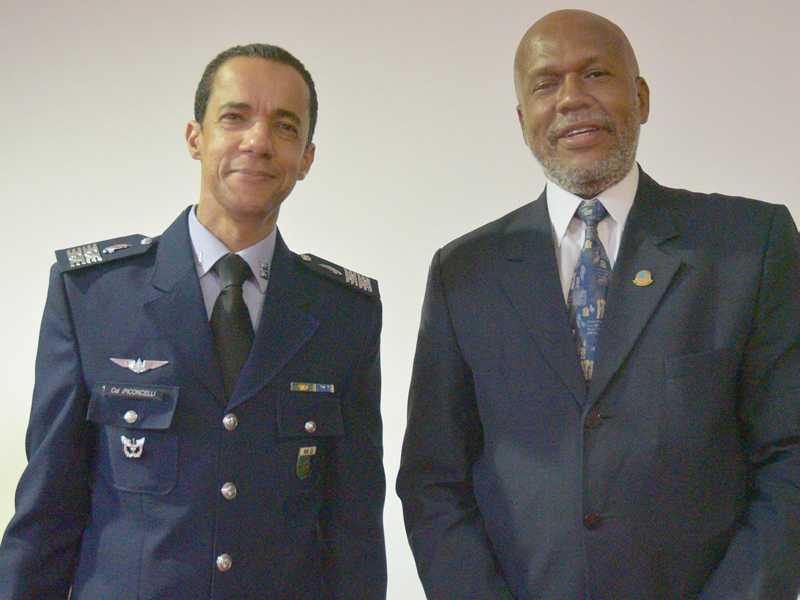 Tenente-coronel Alessandro Piconcelli e Joberto Mattos Sant'Ana