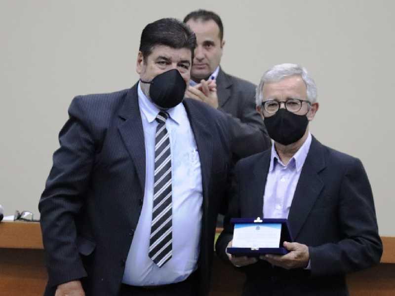 Direto do Jornal do Sudoese, Nelson de Paula Duarte e o vereador Valdir do Prado
