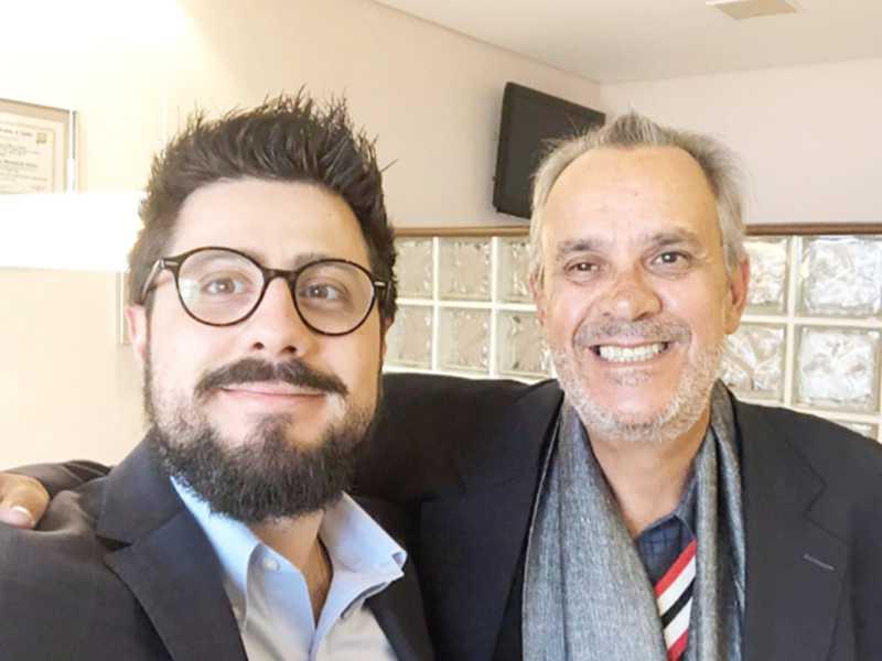Médico Alexandre Tzermias com meu sobrinho Luiz Amaral