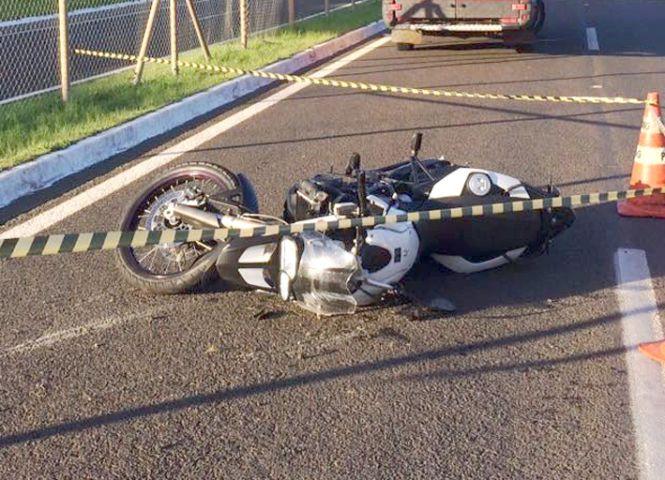 Moto atropela idoso na BR-491 pr